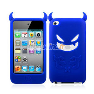 Coque apple ipod touch 4 silicone demon bleu for Housse ipod touch 5