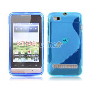 Coque Motorola MotoSmart XT389 XT390 Silicone S-Line - Bleue Ciel