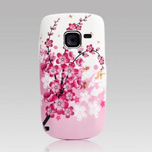 nokia c3-00 silicone fleurs - rose chaud