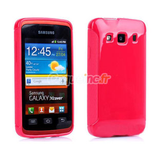 coque samsung galaxy xcover s5690 silicone rouge. Black Bedroom Furniture Sets. Home Design Ideas