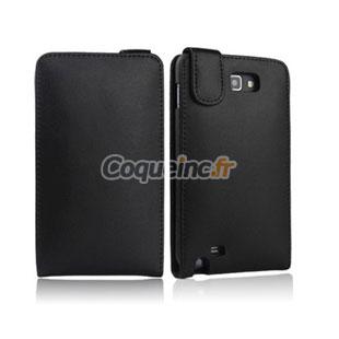 Etui en Cuir Samsung Galaxy Note i9220 - Noire