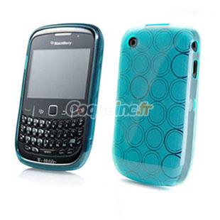 Etui en silicone blackberry curve 8520 cercle bleu for Housse blackberry curve