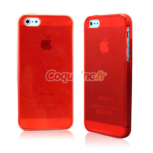 coque iphone 5 silicone rouge