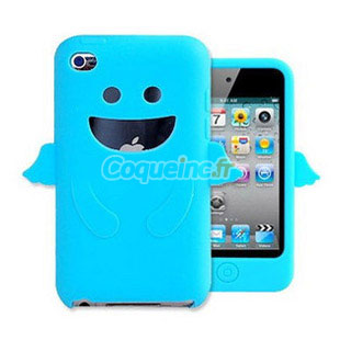 Housse silicone apple ipod touch 4 ange bleue ciel for Housse ipod touch
