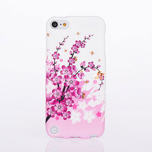 Housse silicone apple ipod touch 5 fleurs rose for Housse ipod touch