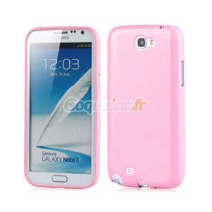 Housse Silicone Samsung Galaxy Note 2 N7100 Gel - Rose