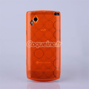 Housse silicone samsung wave s8500 cercle orange for Housse samsung wave