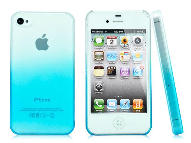 coque apple iphone 4 degrade bleue ciel. Black Bedroom Furniture Sets. Home Design Ideas