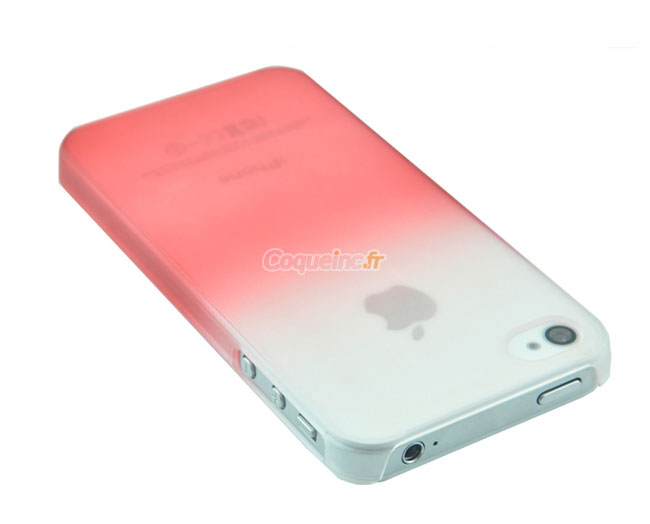coque apple iphone 4s degrade rouge. Black Bedroom Furniture Sets. Home Design Ideas