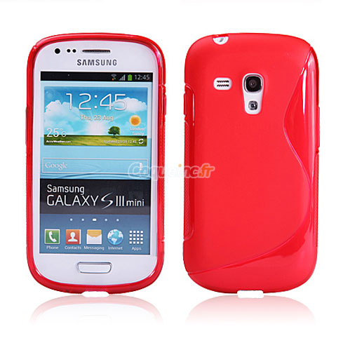 coque samsung galaxy s3 mini i8190 silicone s line rouge. Black Bedroom Furniture Sets. Home Design Ideas