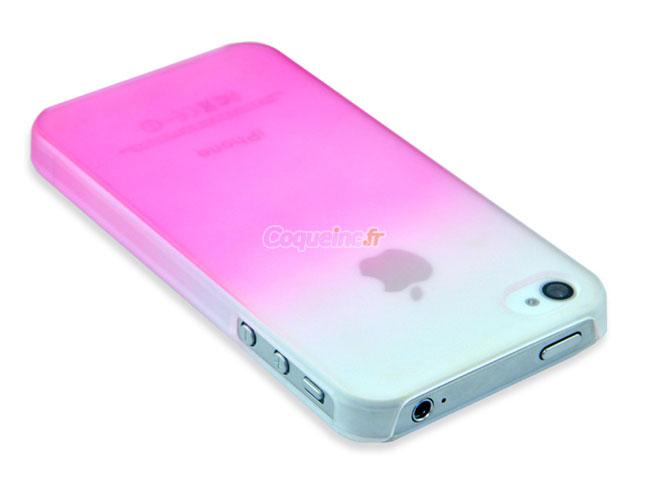 housse rigide apple iphone 4 degrade rose. Black Bedroom Furniture Sets. Home Design Ideas