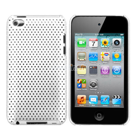 Housse rigide apple ipod touch 4 filet blanche for Housse ipod touch