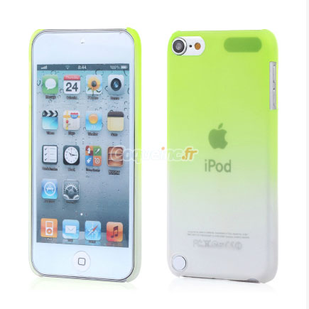 Housse rigide apple ipod touch 5 degrade verte for Housse ipod touch