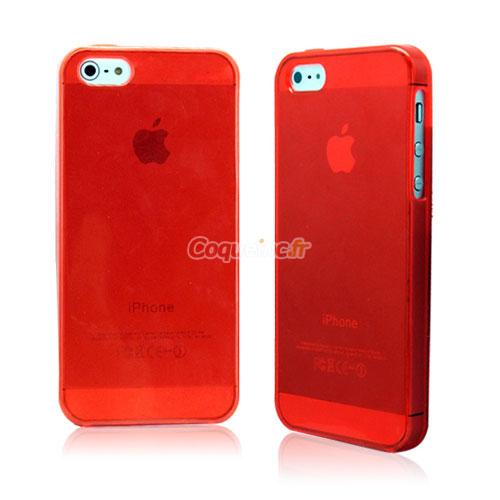housse silicone apple iphone 5 gel transparent rouge. Black Bedroom Furniture Sets. Home Design Ideas