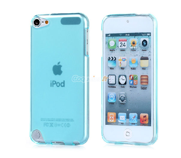 housse silicone apple ipod touch 5 gel transparent bleue
