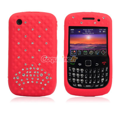 Housse silicone blackberry curve 8520 diamant bling for Housse blackberry curve