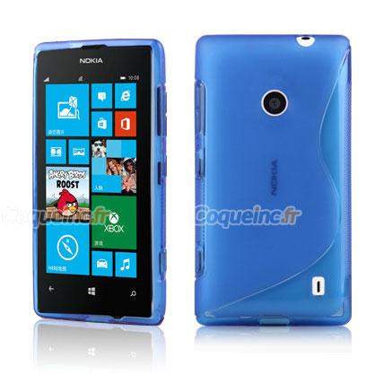 housse silicone nokia lumia 520 gel s line bleu