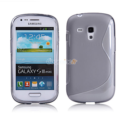 Housse silicone samsung galaxy s3 mini i8190 gel s line gris for Housse samsung s3