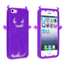 Coque Apple iPhone 5 Silicone Demon - Pourpre