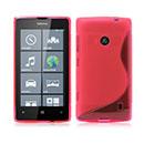 Coque Nokia Lumia 520 Silicone S-Line - Rose Chaud