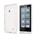 Coque Nokia Lumia 520 Silicone Transparent - Blanche