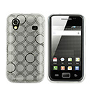 Coque Samsung Galaxy Ace S5830 Cercle TPU - Blanche