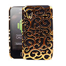 Coque Samsung Galaxy Ace S5830 Perforee Fleurs - Brown