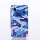 Coque Samsung Galaxy Ace S5830 Plastique Camouflage - Bleu