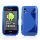 Coque Samsung Galaxy Ace S5830 Silicone S-Line - Bleu