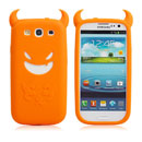 Coque Samsung Galaxy S III i9300 Silicone Demon - Orange