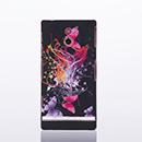 Coque Sony Xperia P LT22i Plastique Papillon - Noire