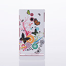 Coque Sony Xperia P LT22i Plastique Papillon - Verte