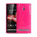 Coque Sony Xperia P LT22i Silicone - Rose Chaud