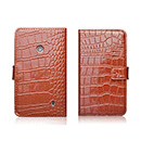 Etui en Cuir Nokia Lumia 520 Crocodile - Brown
