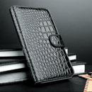 Etui en Cuir Samsung Galaxy Note i9220 Crocodile - Noire