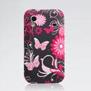 Etui en Silicone Samsung Galaxy Ace S5830 Papillon - Noire