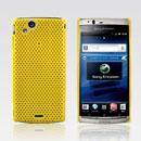 Etui Plastique Sony Ericsson Xperia Arc LT15i X12 Perforee - Jaune