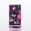 Etui Plastique Sony Xperia P LT22i Plastique Papillon - Noire