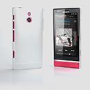 Etui Plastique Sony Xperia P LT22i Poli - Blanche