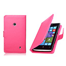 Housse Etui en Cuir Nokia Lumia 520 - Rose Chaud