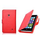 Housse Etui en Cuir Nokia Lumia 520 - Rouge