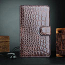 Housse Etui en Cuir Samsung Galaxy Note i9220 Crocodile - Brown