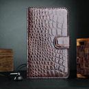 Housse Etui en Cuir Samsung Galaxy Note i9220 Crocodile - Brown