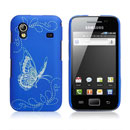 Housse Rigide Samsung Galaxy Ace S5830 Papillon - Bleu