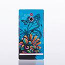 Housse Rigide Sony Xperia P LT22i Plastique Papillon - Bleu