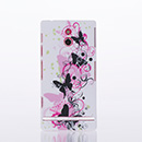 Housse Rigide Sony Xperia P LT22i Plastique Papillon - Rose