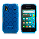 Housse Silicone Samsung Galaxy Ace S5830 Cercle - Bleu