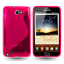Housse Silicone Samsung Galaxy Note i9220 Gel S-Line - Rose Chaud