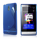 Housse Silicone Sony Xperia P LT22i Gel S-Line - Bleu