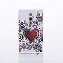 Housse Sony Xperia P LT22i Plastique Amour - Noire